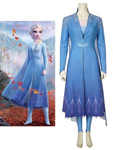 Frozen 2 Косплей Костюм Эльза Принцесса Косплей Костюм