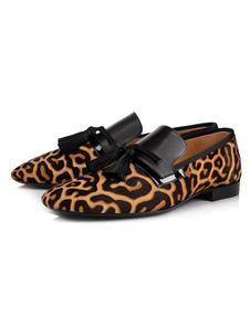 الرجال اللباس أحذية شعر الخيل جولة تو ليوبارد الانزلاق على أحذية متعطل حزب2020
