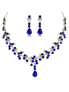 Свадебные ожерелья Голубое сердце в форме горного хрусталя Свадебные ожерелья