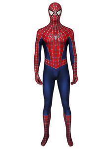Spider-Man2 Cosplay Spider Man Lycra Spandex Borgogna Film Marvel Comics Costumi Cosplay