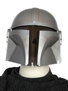 Star Wars Cosplay O Mandalorian Silver PVC Capacete Viseira Filme TV Drama Trajes de Cosplay