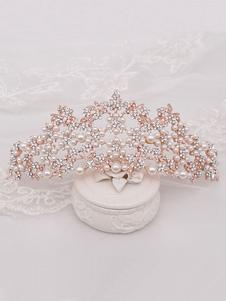 Acessórios de cabelo de metal de tiara de casamento de tiara para noiva