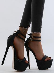"""Sandali sexy da donna con cinturino alla caviglia con cinturino alla caviglia da 6,7 """"Scarpe con stampa cocco per rave club"""