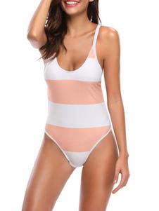 Costumi da bagno Monokini per donne Salmon Two Sexy Tone Summer Swimming Swits