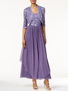 Платье для мамы невесты 2 шт. Line Кружева до щиколотки Свадебные платья для гостей