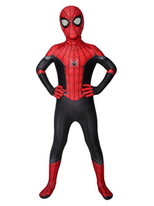 Marvel Comics Spider Man: Far From Home Cosplay Peter Parker Kid Lycra Spandex Cosplay Jumpsuit