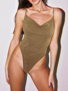 ارتداءها بلا اكمام الترتر الخامس الرقبة عارية الذراعين عارية الذراعين البوليستر المرأة الأعلى