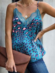 Guepardo leopardo Cami Impreso Camis atractivo de las mujeres