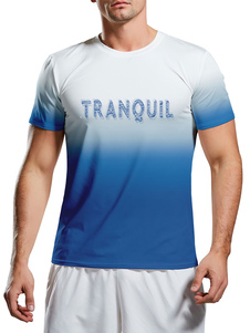 Hombres Camisetas Joya Cuello Impreso Manga Corta Casual Camiseta
