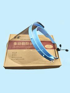 Precaución con el protector facial Lente transparente Anti-gotitas en el aire con visera abatible