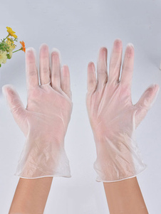 100PCS Clear Gloves Powder Free Safety Protection Luvas de precaução