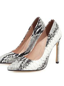 الكعوب العالية أشار تو مضخات الأفعى طباعة خنجر كعب زائد الحجم أحذية