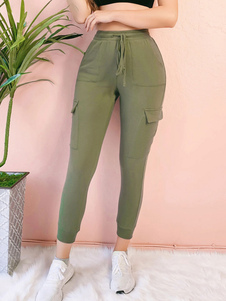 Pantaloni Hunter in misto cotone verde