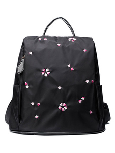 Женские цветочные нейлоновые противоугонные школьные рюкзаки