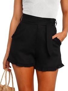Pantaloncini da donna casual in poliestere alla moda corto corto estivo