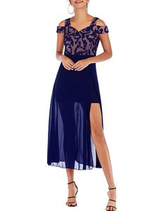 فستان الصيف الأشرطة الرقبة الظلام البحرية اللباس الشاطئ