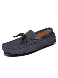 Mocassim masculino sapatos barco sapatos camurça deslizar na condução sapatos