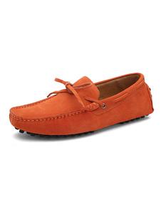 Slittamento Suede Shoes mocassino Penny Loafer uomo su scarpe da guida