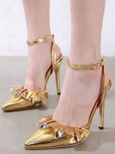 وأشار الكعب العالي للمرأة مضخات أخمص القدمين خنجر الذهب أحذية