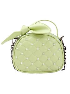 الفتيات مبطن حقيبة ستايجلايت حقيبة يد الحلو مع اللؤلؤ