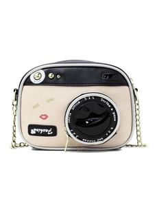 كاميرا واحدة الكتف PU زيبر اثنين من لهجة ساحة شكل حقيبة