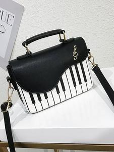 Двухцветная квадратная сумка с рисунком фортепиано