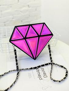 Mini-bolsa feminina Crossbody Bolsa de ombro em forma de diamante