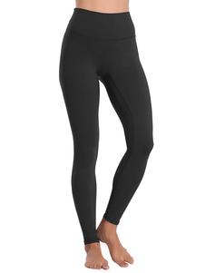 Pantalones Pantalones de cintura natural de poliéster negro