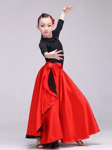تنورة باسو دوبلي للرقص ، تنورة طويلة حمراء للنساء و كيد