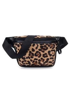 Женская мини-сумка с поясом с леопардовым принтом