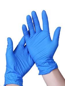 10 пачек одноразовых перчаток Химическая антибактериальная марка с длинной манжетой Толстая неопудренная перчатка из натурального каучука для очистки санитарных или механических задач