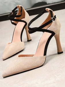 Женские туфли на высоком каблуке из замши с острым носом Criss
