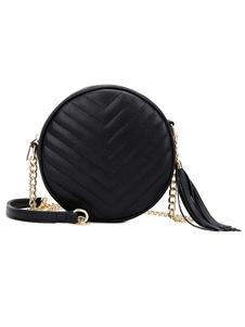 Женская круглая мини сумка через плечо