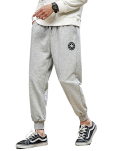 Pantalones para hombres Pantalones de chándal rectos de cintura natural ocasionales Pantalones grises para hombres