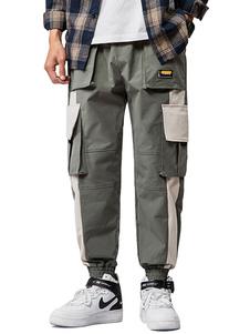 Pantalones para hombres Casual Cintura natural Pantalón cargo recto Pantalones grises para hombres