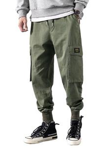 Pantalones de hombre Pantalones de carga recta de cintura natural casual Pantalones de hombre naranja
