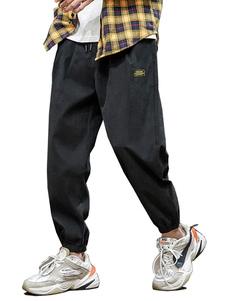 Pantalones para hombres Pantalones de carga recta de cintura natural casual Pantalones grises para hombres