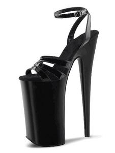 الصنادل مثير للمرأة أسود بو الجلود اللمحة تو أحذية الراهب الشريط مثير