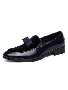 Мужская обувь Loafer Удобные замшевые кожаные банты Повседневная обувь