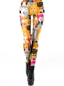 Leggings elásticos Leggings de mujer con estampado 3D