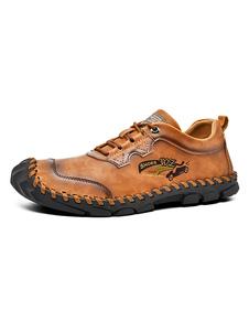 Sapatilhas masculinas Aconchegante PU couro redondo Toe sapatos masculinos