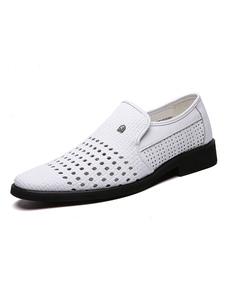 Мужская обувь Loafer Slip-On с круглым носком из искусственной кожи Мужская обувь