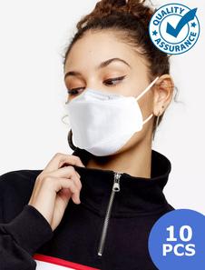 10 pz Maschere per il viso KF94 Disponibile Anello elastico per orecchio Filtro monouso Maschere antipolvere Respiratore per adulti e bambini