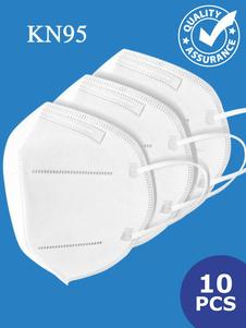 10 pcs Máscara Facial KN95 Em Estoque Elastic Ear Loop Anti Poluição Grau Militar Anti Poeira Máscara de Proteção Profissional