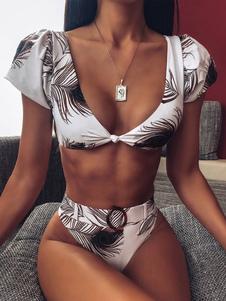 Mulheres Maiôs de duas peças Tropical Impresso Verão Fatos de banho sexy