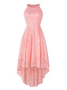 أعلى أدنى الرباط فساتين جوهرة الرقبة الفساتين بلا أكمام