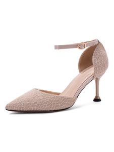 Le donne di Pompe cinghia regolabile a punta tacco a spillo Elementi metallici sandali romantici
