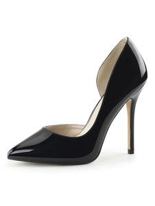 الكعوب النساء مثير عالية أسود أشار تو أحذية الترتر مضخة مثير