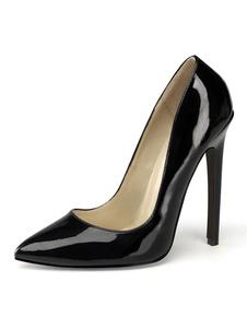 Высокие каблуки слипон острым носом стилет каблук блестками сексуальная обувь