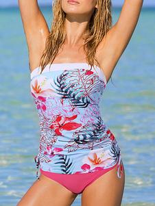Trajes de baño de dos piezas para mujer Trajes de baño sexy de verano con estampado floral